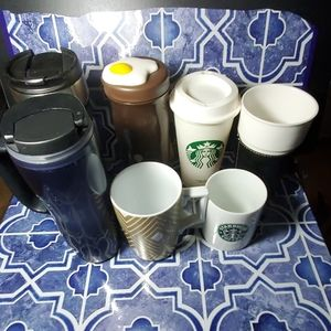 💥💥FIVE STARBUCKS CUPS COFFEE 2 DIFFERENT 💥💥